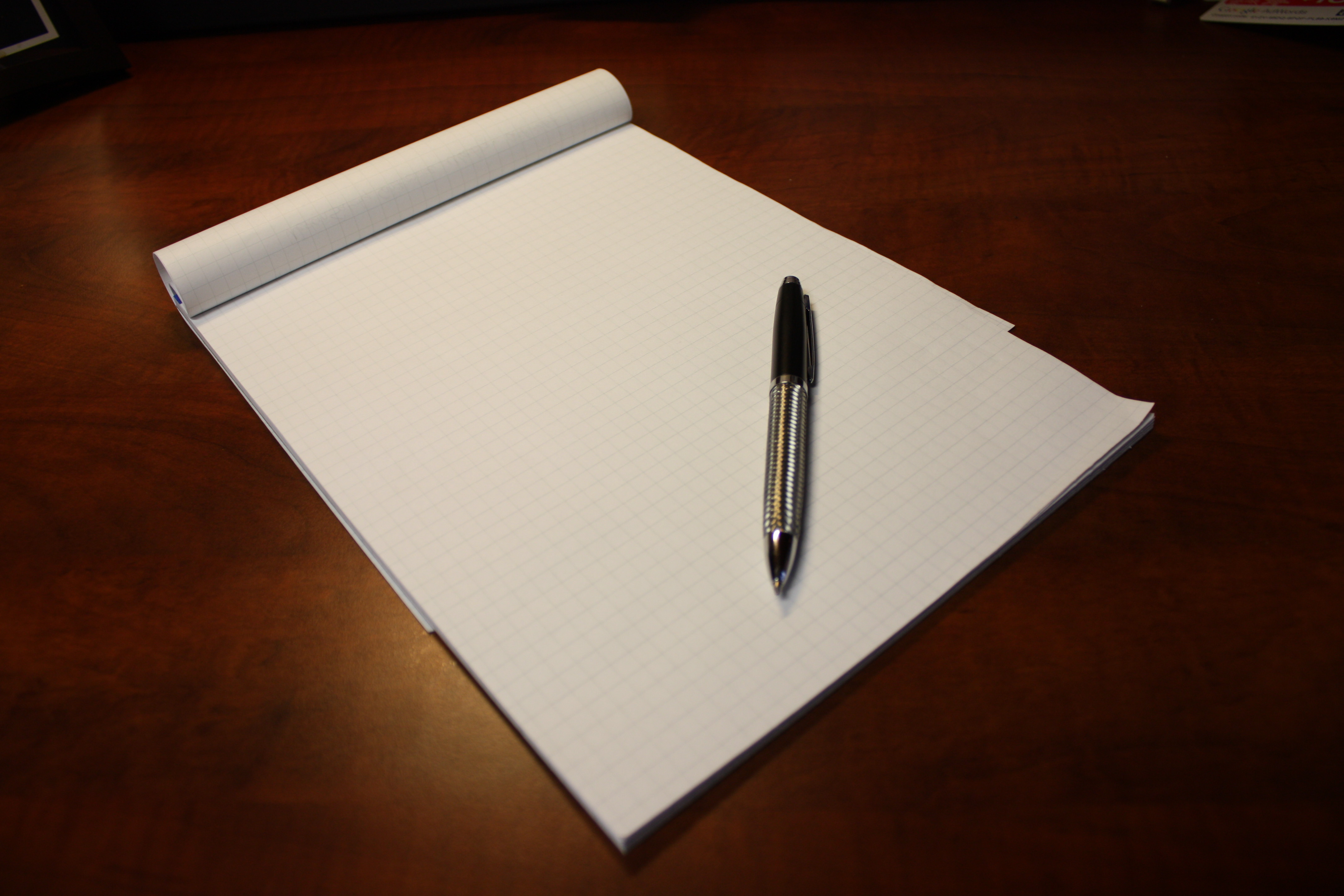 pen to paper