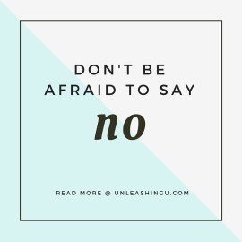 Monday Motivation: Don't Be Afraid to Say No