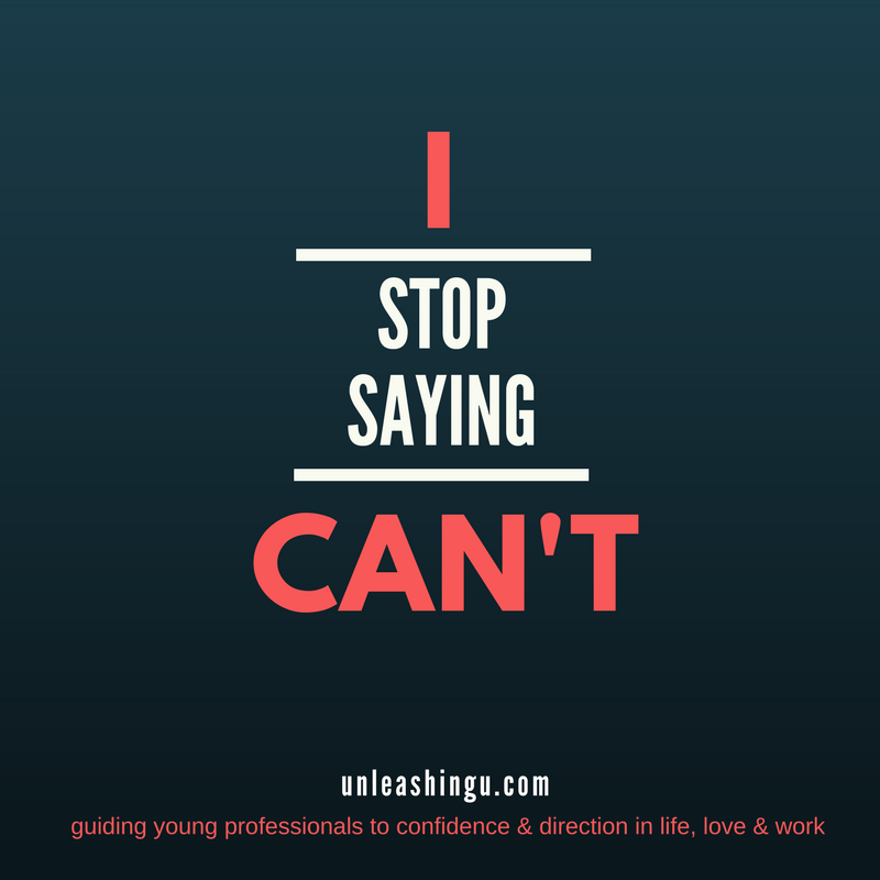 stop saying can't