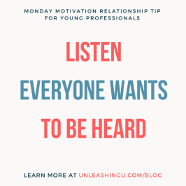 Relationship Tip: Listen – Everyone Wants to be Heard